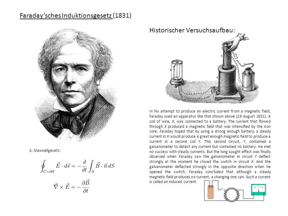 Faraday'sches Induktionsgesetz (1831)