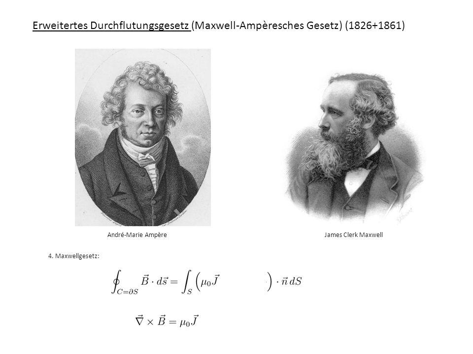Erweitertes Durchflutungsgesetz (Maxwell-Ampèresches Gesetz) (1826+1861)