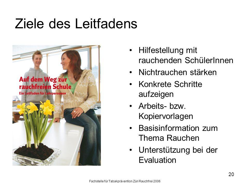 Fachstelle für Tabakprävention Züri Rauchfrei 2006