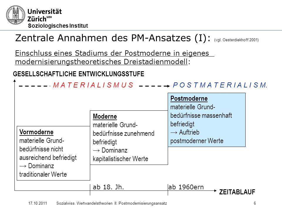 Zentrale Annahmen des PM-Ansatzes (I): (vgl. Oesterdiekhoff 2001)