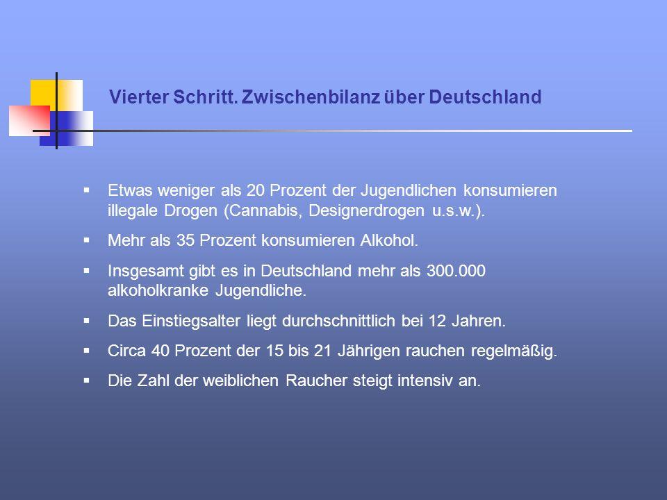Vierter Schritt. Zwischenbilanz über Deutschland