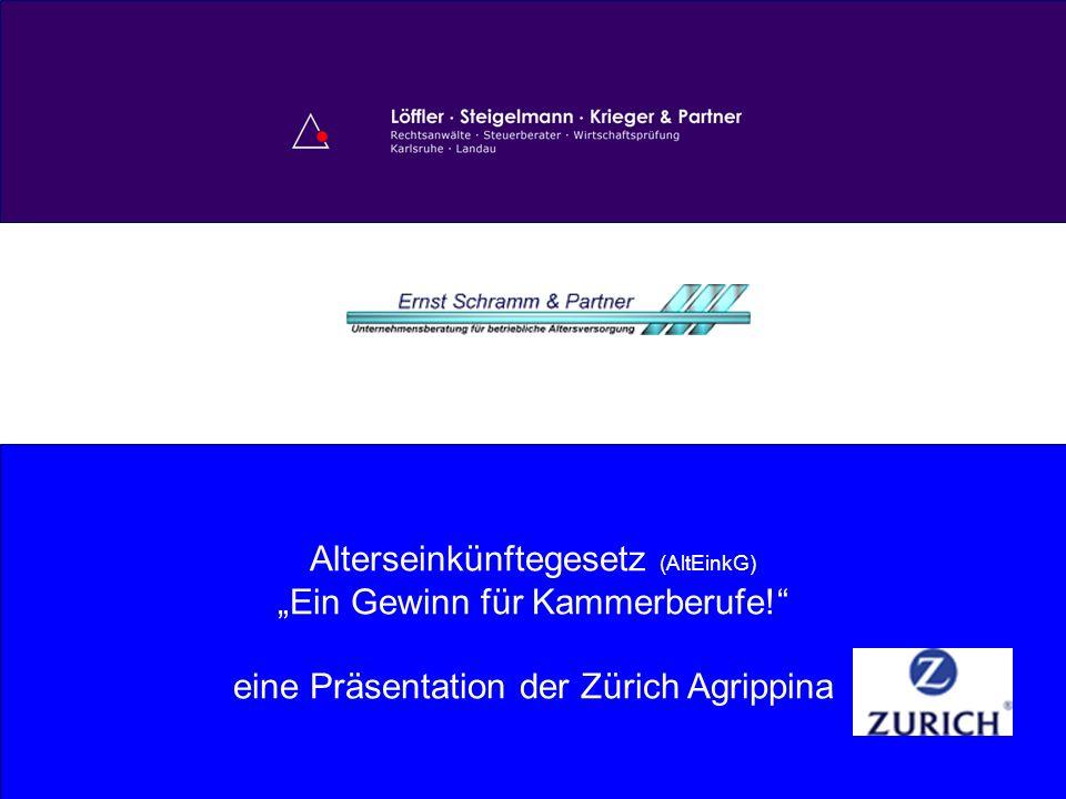 """Alterseinkünftegesetz (AltEinkG) """"Ein Gewinn für Kammerberufe!"""