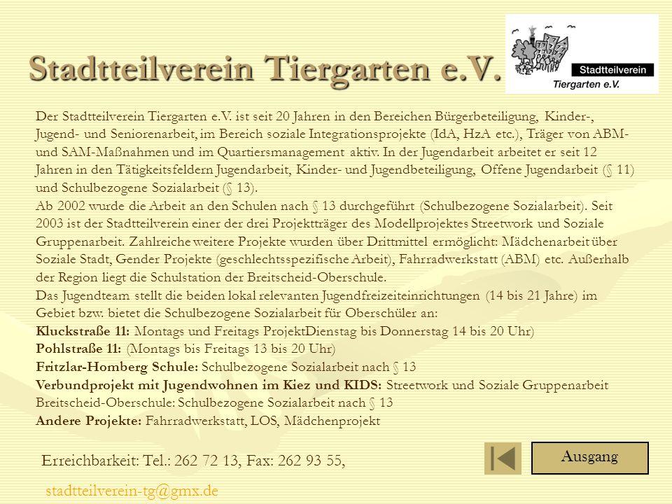 Stadtteilverein Tiergarten e.V.