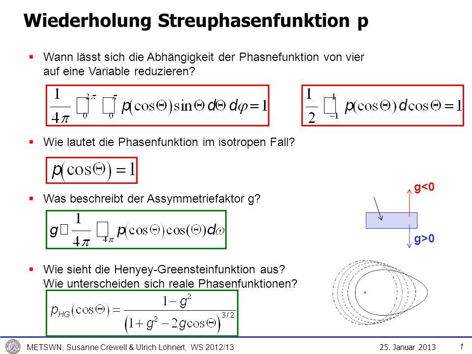 Wiederholung Streuphasenfunktion p