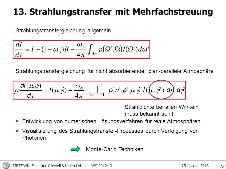 13. Strahlungstransfer mit Mehrfachstreuung
