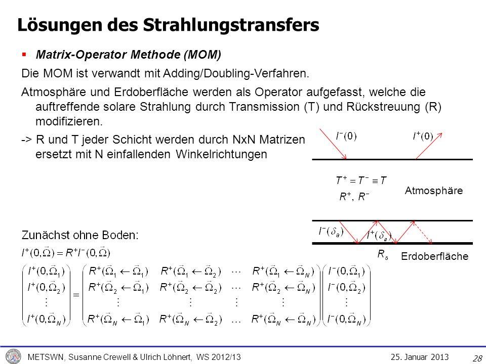 Lösungen des Strahlungstransfers