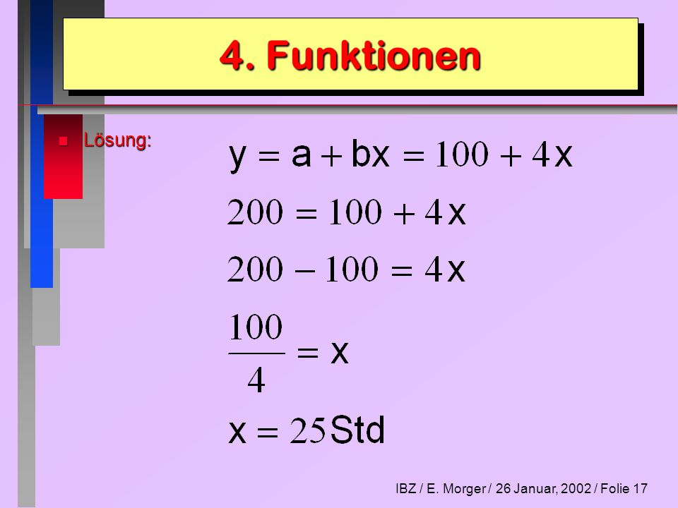 4. Funktionen Lösung: