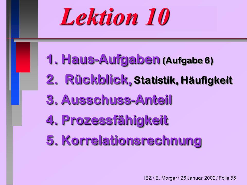 Lektion 10 1. Haus-Aufgaben (Aufgabe 6)