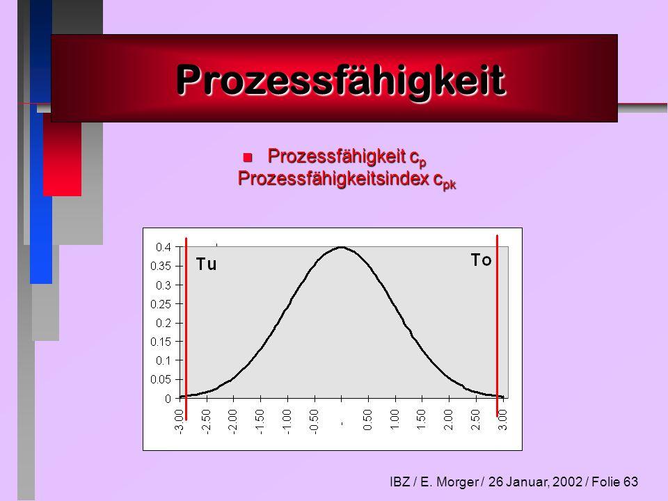 Prozessfähigkeit cp Prozessfähigkeitsindex cpk