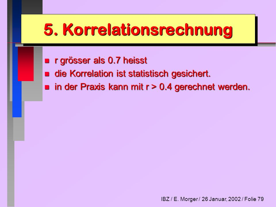 5. Korrelationsrechnung