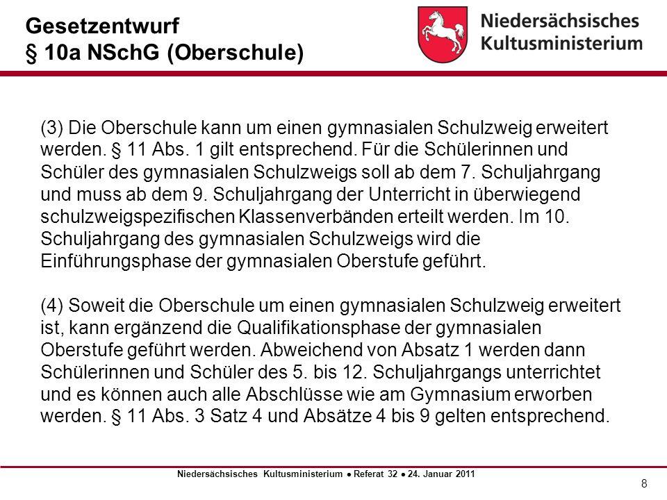 Gesetzentwurf § 10a NSchG (Oberschule)