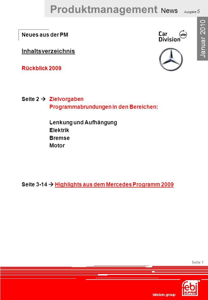 Januar 2010 Inhaltsverzeichnis Neues aus der PM Rückblick 2009