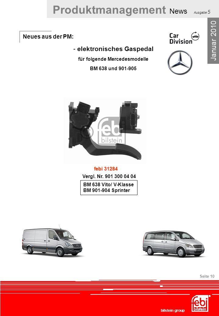 elektronisches Gaspedal für folgende Mercedesmodelle