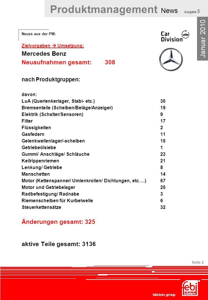 Januar 2010 Mercedes Benz Neuaufnahmen gesamt: 308