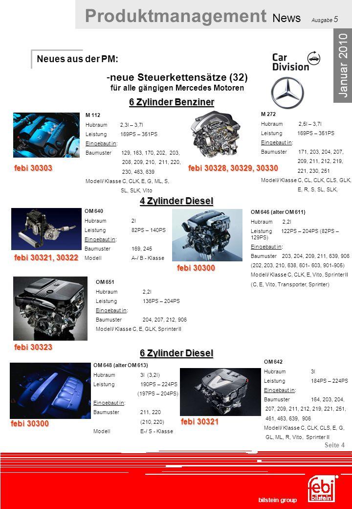 neue Steuerkettensätze (32) für alle gängigen Mercedes Motoren