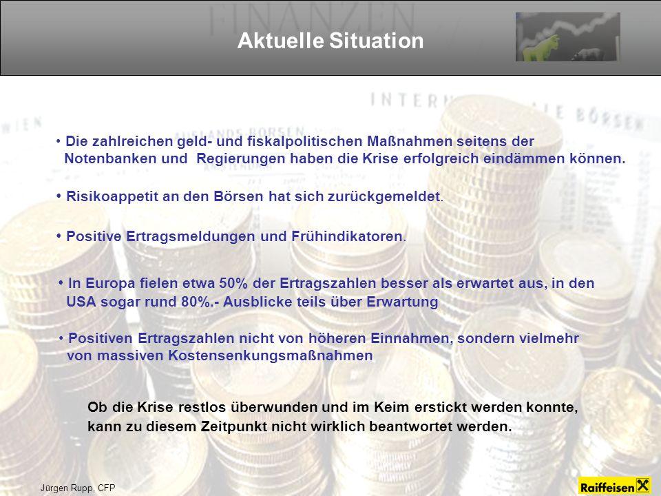 Aktuelle Situation Die zahlreichen geld- und fiskalpolitischen Maßnahmen seitens der.