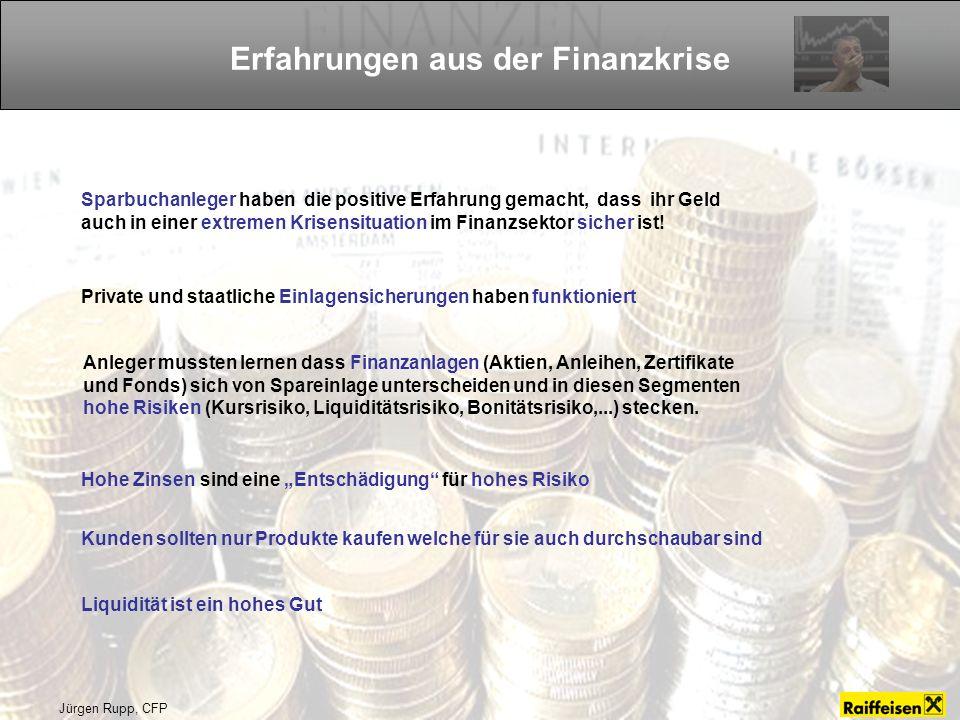 Erfahrungen aus der Finanzkrise