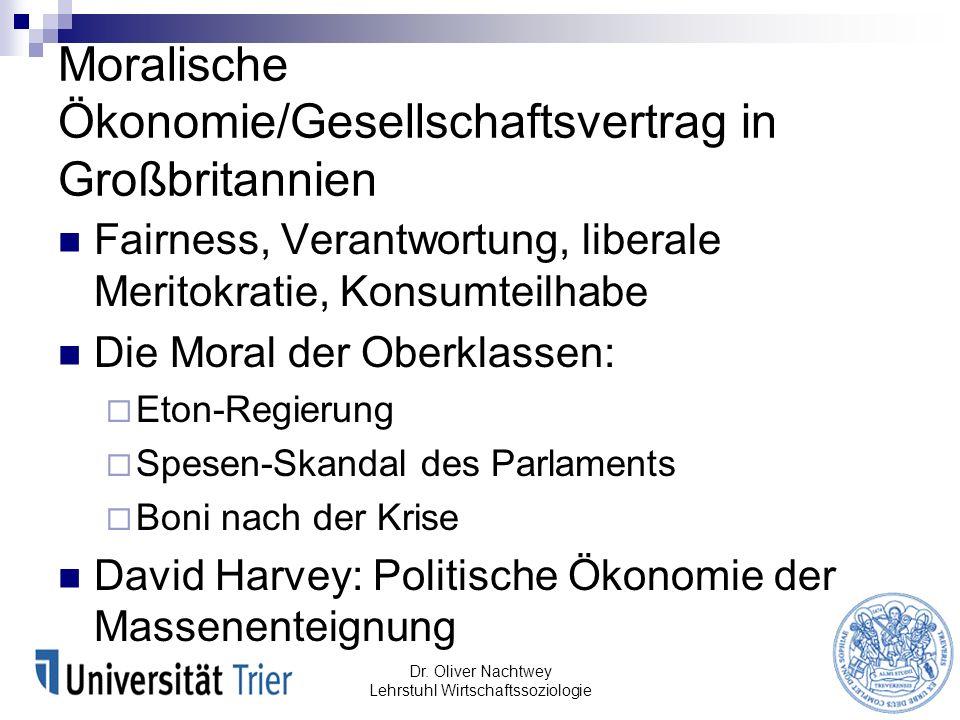 Moralische Ökonomie/Gesellschaftsvertrag in Großbritannien