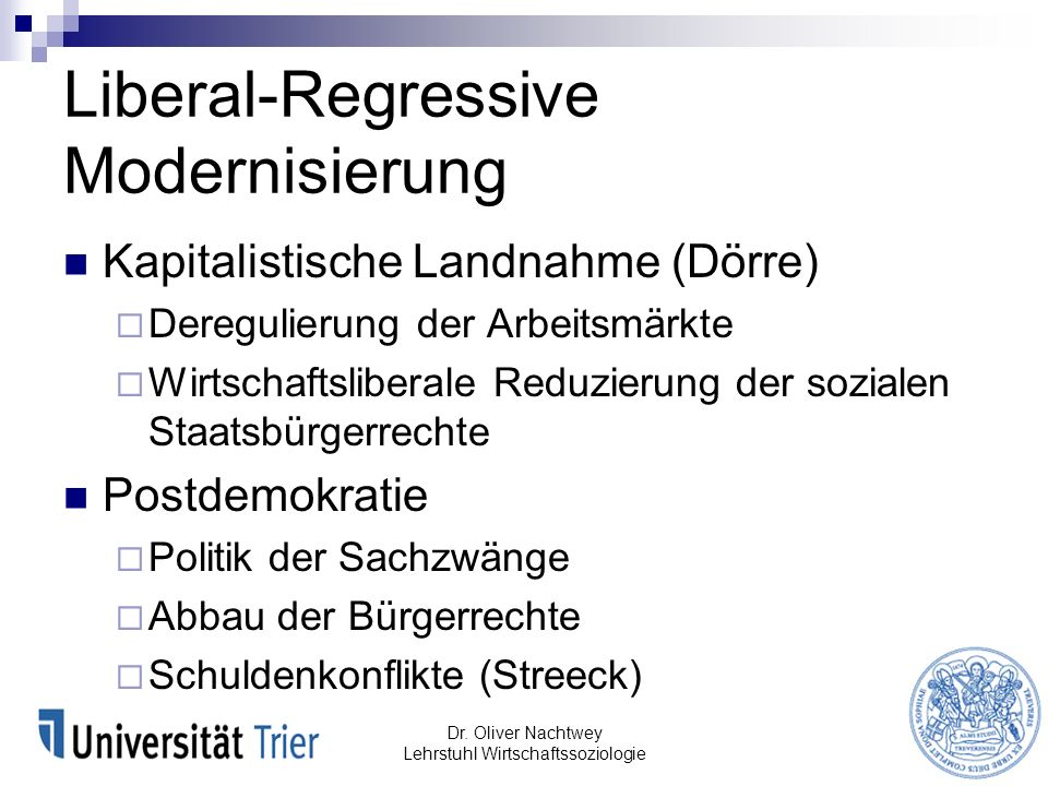 Liberal-Regressive Modernisierung