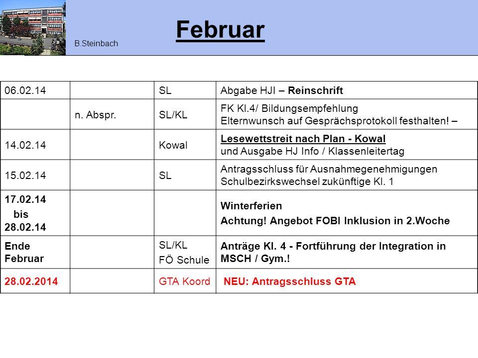 Februar 06.02.14 SL Abgabe HJI – Reinschrift n. Abspr. SL/KL