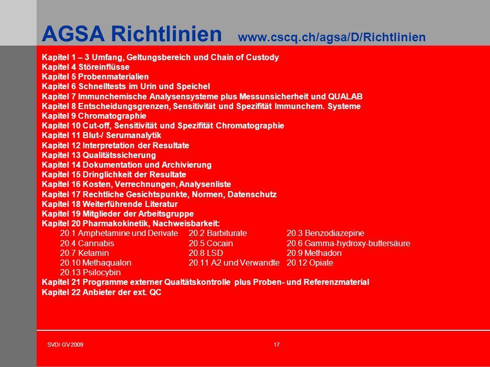 AGSA Richtlinien www.cscq.ch/agsa/D/Richtlinien