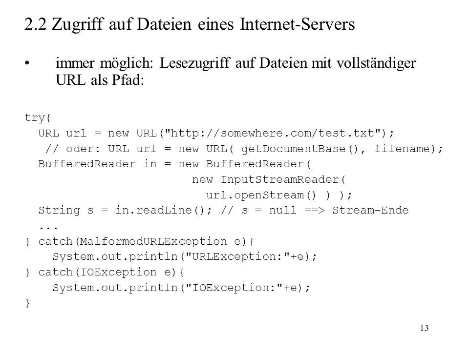 2.2 Zugriff auf Dateien eines Internet-Servers