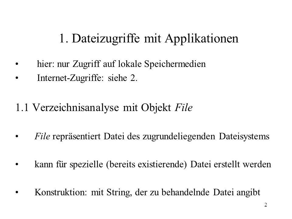 1. Dateizugriffe mit Applikationen