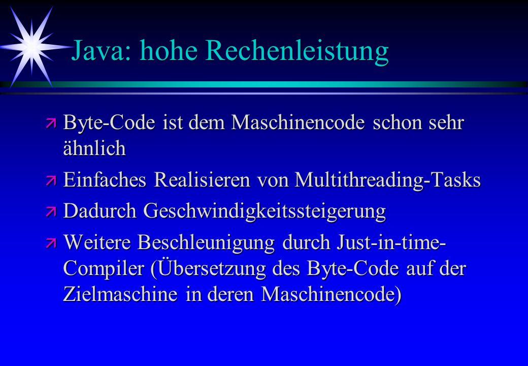 Java: hohe Rechenleistung