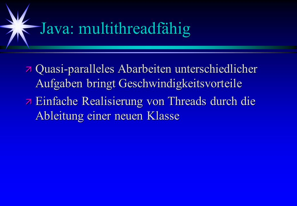 Java: multithreadfähig