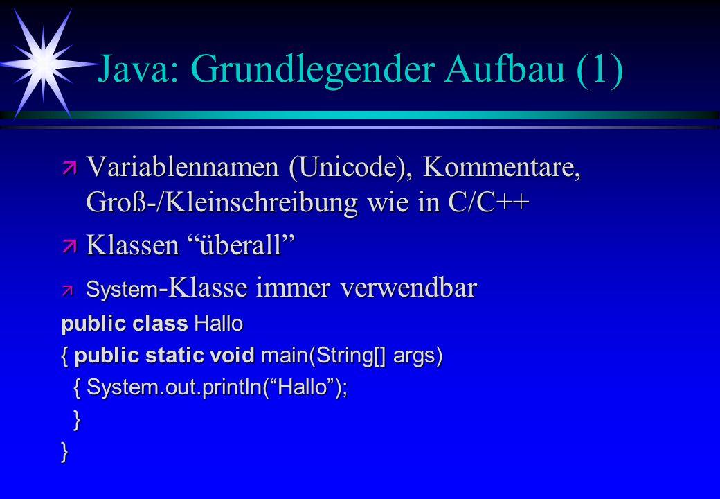 Java: Grundlegender Aufbau (1)