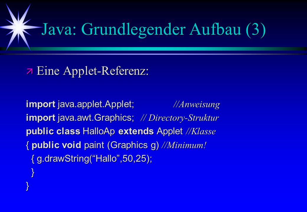 Java: Grundlegender Aufbau (3)