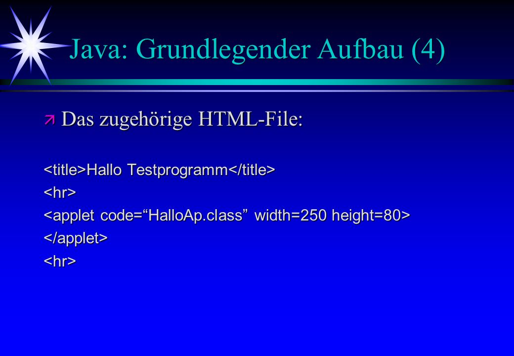 Java: Grundlegender Aufbau (4)