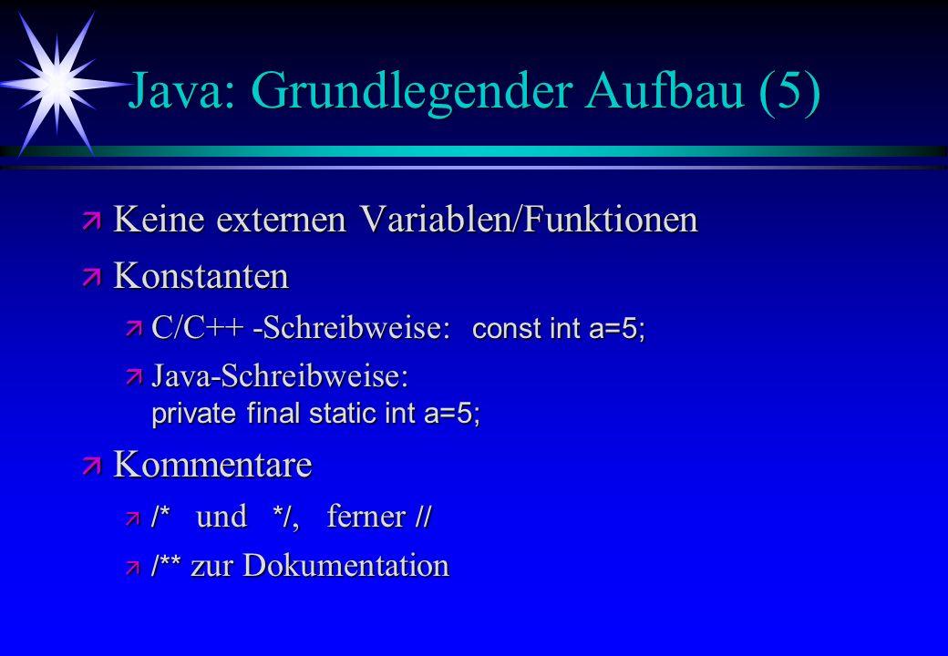 Java: Grundlegender Aufbau (5)