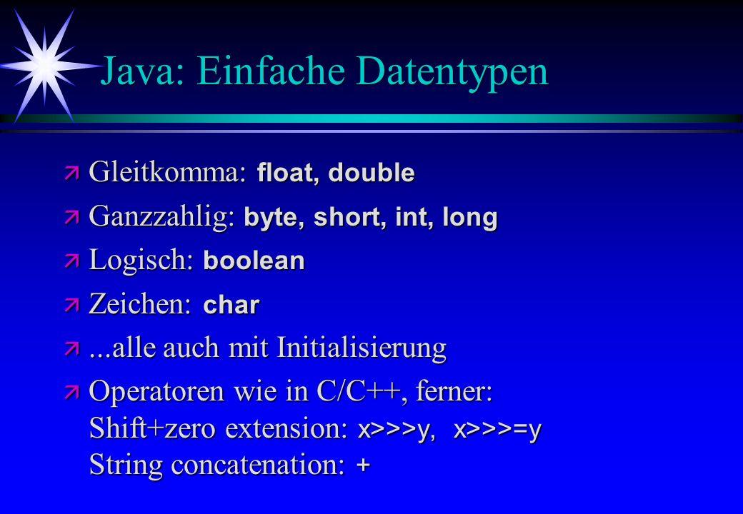 Java: Einfache Datentypen