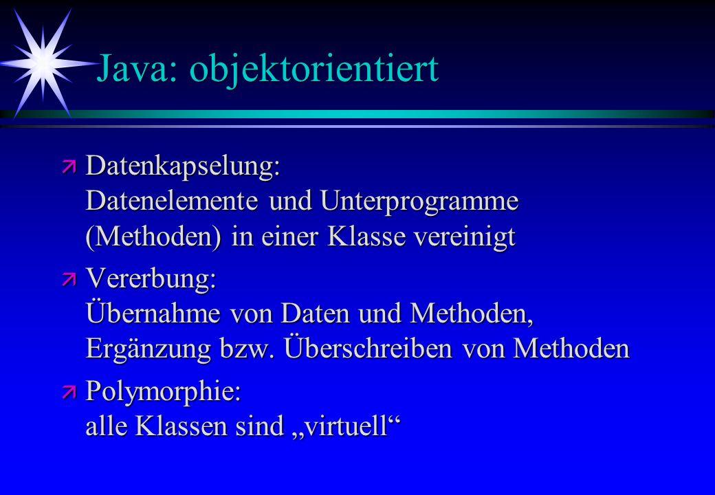 Java: objektorientiert