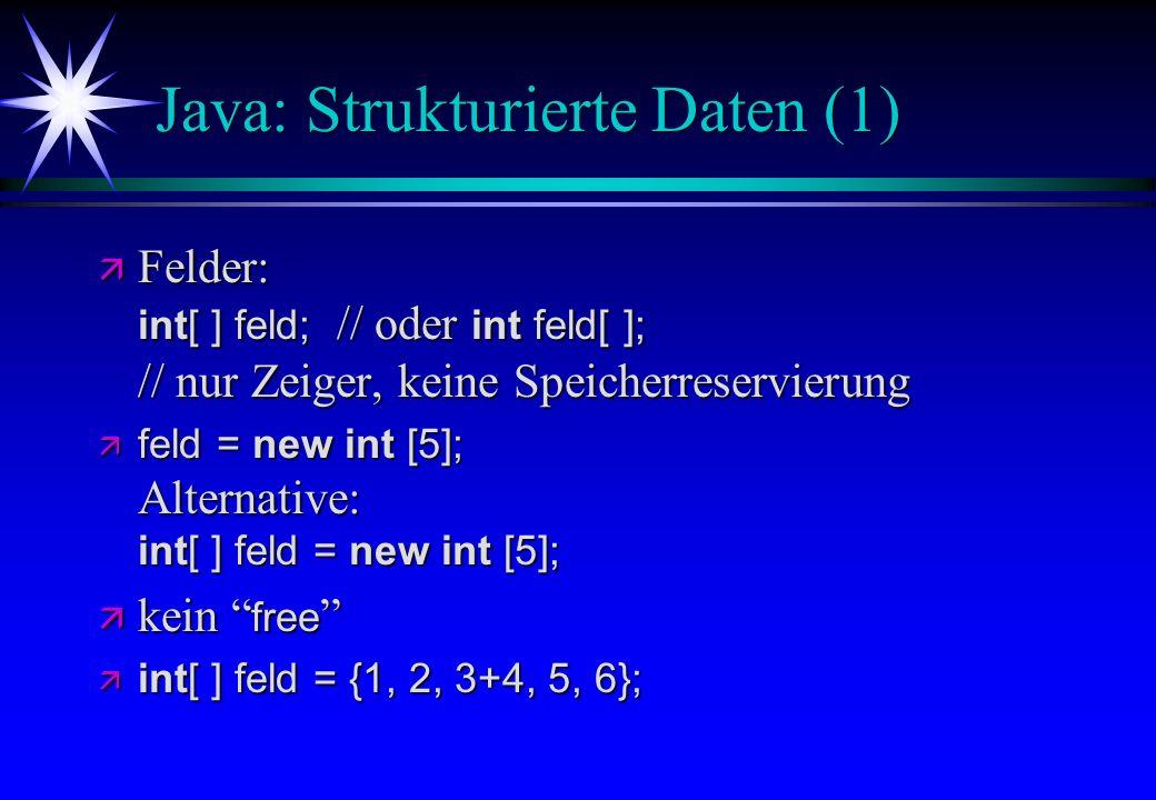 Java: Strukturierte Daten (1)