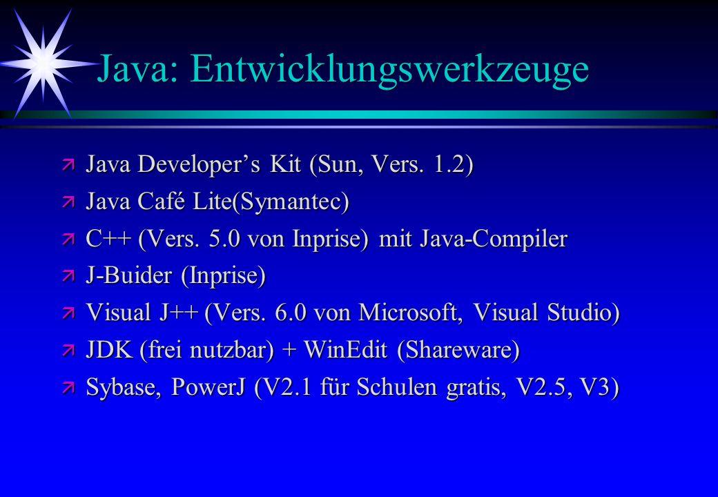 Java: Entwicklungswerkzeuge