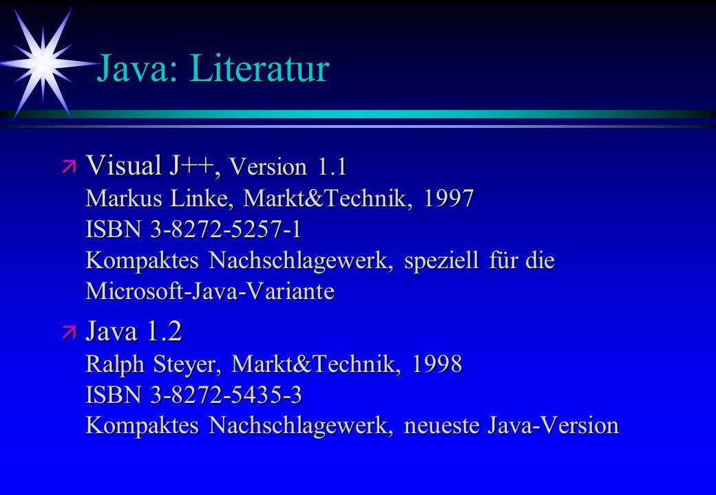 Java: Literatur