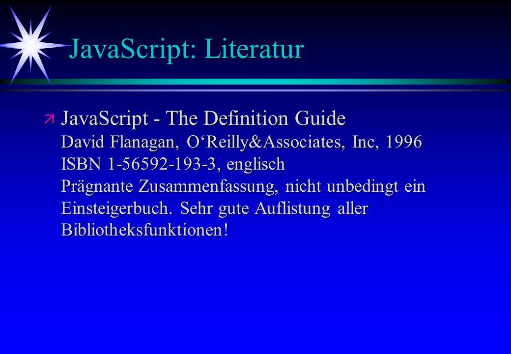 JavaScript: Literatur