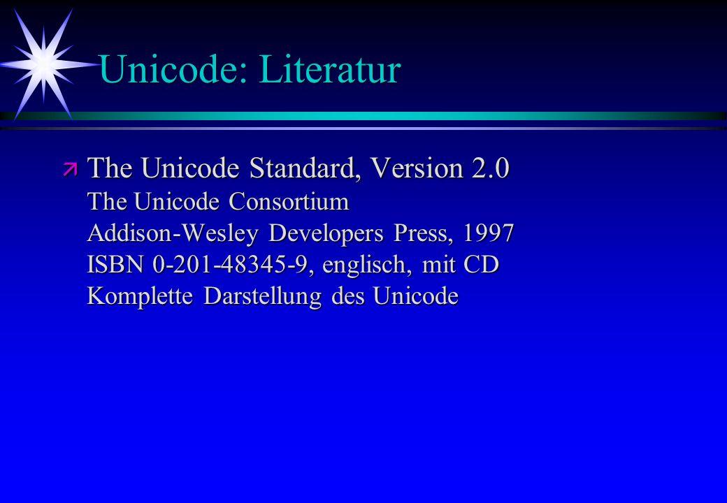 Unicode: Literatur