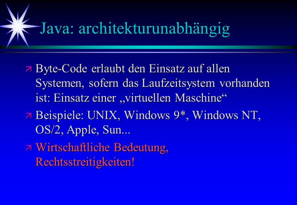 Java: architekturunabhängig