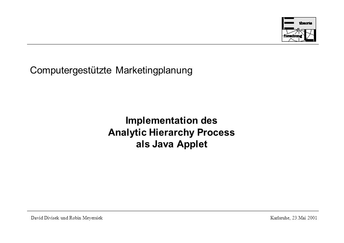 Computergestützte Marketingplanung