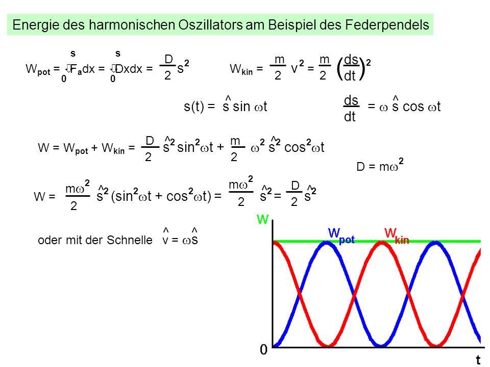 ( )2 Energie des harmonischen Oszillators am Beispiel des Federpendels