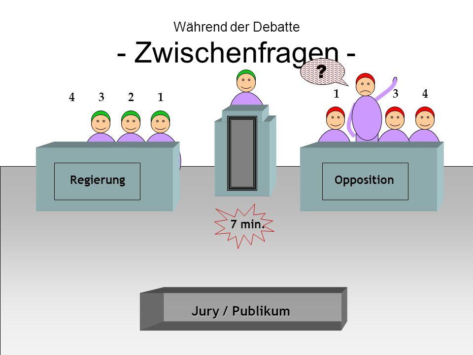 Während der Debatte - Zwischenfragen -
