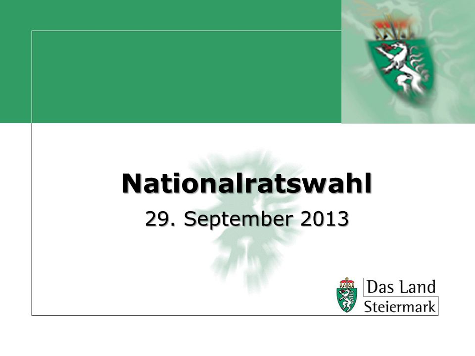 Nationalratswahl 29. September 2013