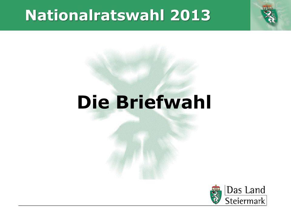 Nationalratswahl 2013 Die Briefwahl