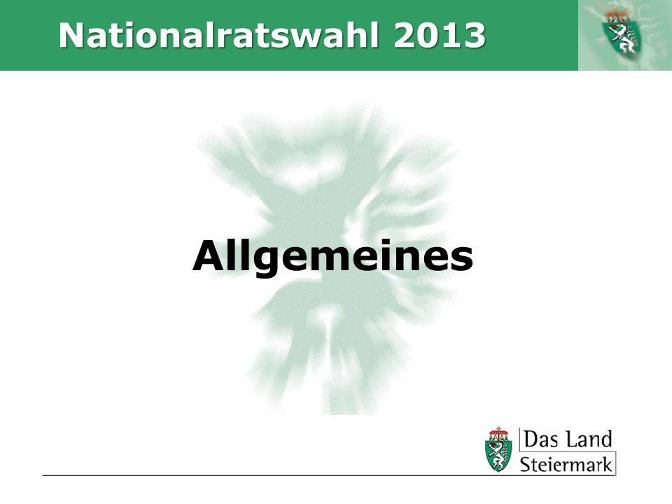 Nationalratswahl 2013 Allgemeines