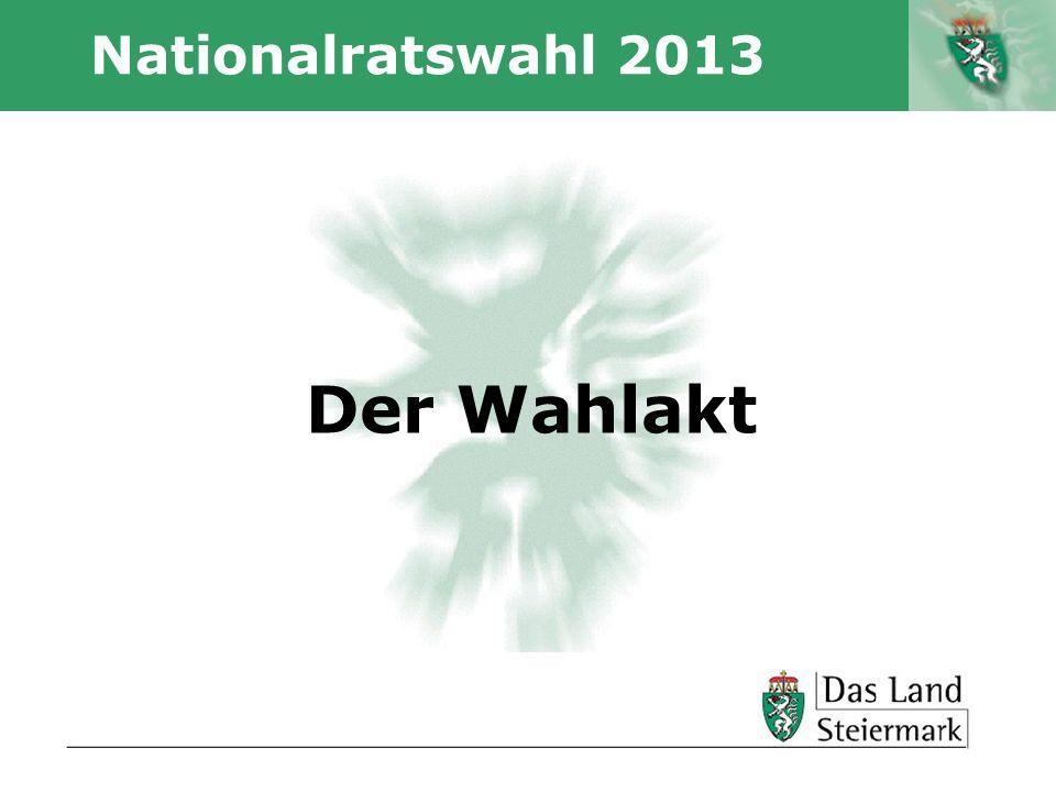 Nationalratswahl 2013 Der Wahlakt