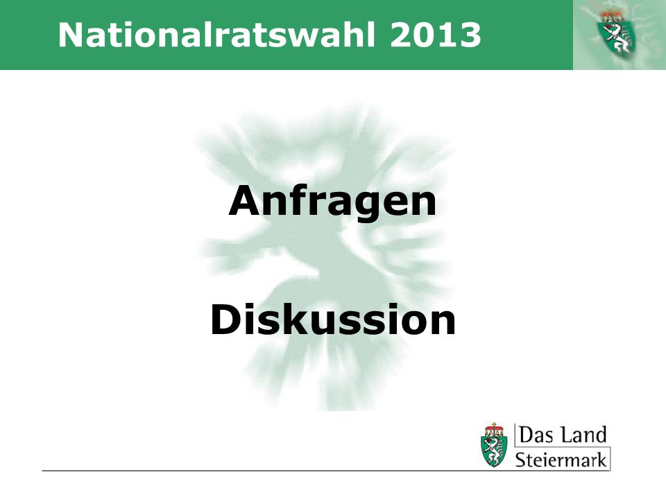 Nationalratswahl 2013 Anfragen Diskussion