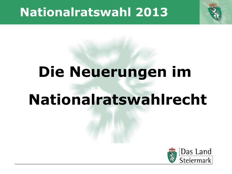 Nationalratswahlrecht